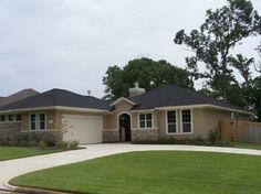 Stucco Exterior Ranch ranch design with bonus room. stone and stucco exterior. *trim