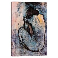 Blue Nude by Picasso Canvas Print