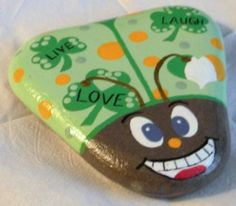 Bug,painted on stone!