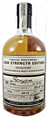 Scapa 20 year old Cask 58.6% 50cl Strength Edition