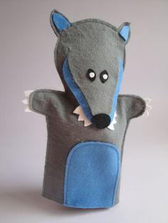 Little Red Riding Hood felt hand puppet Set por Cromanticamente