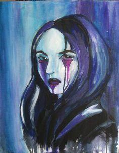 "Saatchi Art Artist Gella Goring; Painting, ""soul of rain"" #art"