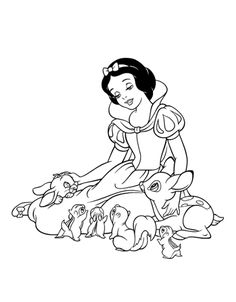 Snow White and the Seven Dwarfs coloring pages. Disney coloring pages. Coloring pages for kids. Thousands of free printable coloring pages for kids! Princess Coloring Sheets, Disney Princess Coloring Pages, Disney Princess Colors, Disney Princess Snow White, Princess Cartoon, Cartoon Coloring Pages, Animal Coloring Pages, Coloring Book Pages, Printable Coloring Pages