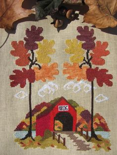 Pre-Order Autumn In Vermont counted cross stitch chart