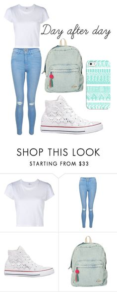 """""""Day after day"""" by maramira2005 ❤ liked on Polyvore featuring RE/DONE, New Look, Converse, Billabong and Casetify"""