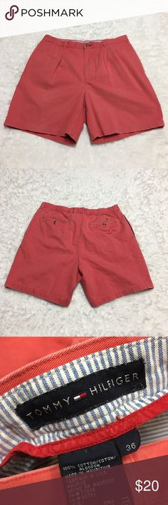 Tommy Hilfiger Salmon Color Shorts : F Tommy Hilfiger Salmon Color Shorts Mens Size 36 Waist good used condition  Approximate measurements  ▪️Hip to Hip ▪️Hip to Hem Thank you for checking out my closet! Offers are always welcome or bundle for bigger savings. If you have any questions feel free to ask! Tommy Hilfiger Shorts