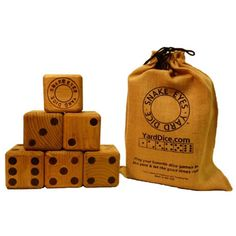 Yard Dice - could be fun to play an indoor game outside