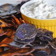 Sweet Potato Chips and Onion Dip | Organic Recipe Book