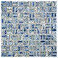 SomerTile 12-inch Samoan Weave Neptune Blue Porcelain Mosaic Tiles (Pack of 10) | Overstock.com