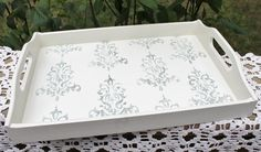 Painted tray, Wooden Tray, Vintage Tray, Hand Painted Tray, Decorative Tray, Server, Display, Cottage Chic, Shabby Chic, Wall Decor