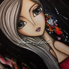 416 Likes, 17 Comments - Romi Lerda Art Sketches, Art Drawings, Pencil Drawings Of Girls, Floral Artwork, Alcohol Ink Art, Painting Wallpaper, Painting For Kids, Painting Art, Whimsical Art