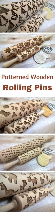 "Gifts under $15 Wooden Rolling Pin Laser Cut ""New Year Netting Pattern"" Merry Christmas, Snowflakes, Gift, Christmas sock, Stars NNT #kitchens #kitchenware #ad #giftideas #GIFTIDEA #gift #christmasgifts #giftsunder25 wooden rolling pins 