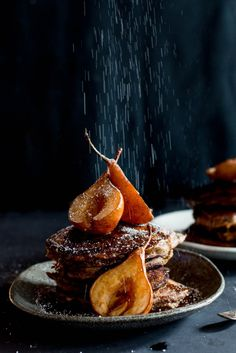 Sticky Date Pancakes with Butterscotch Sauce & Roasted Pears | The Brick Kitchen
