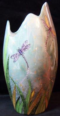 Peinture sur porcelaine: Vase