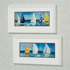 Regatta Sailboat Framed Wall Art Set