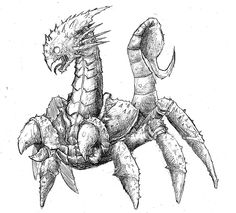 Sandwalker- Arabian legend: a huge nocturnal crab the size of a horse that ate camels. It had a bird like beak and a tail like that of a scorpion.