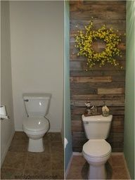 I LOVE this wood as a feature wall idea.