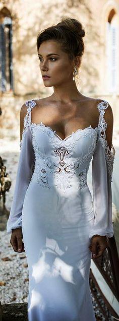 Julie Vino 2015 fall bridal provence nicole long bishop sleeves wedding dress