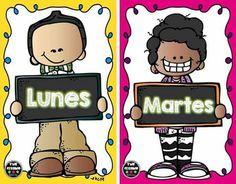 Funny Times, Community Helpers, Teaching Spanish, Classroom Decor, Clip Art, Teacher, D1, Days Of Week, Happy Hour