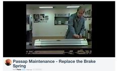 Link to video showing you how to replace a brake spring on a  Passap / Pfaff knitting machine.