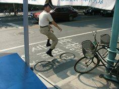 invisible bikes