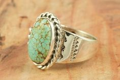 Number 8 Mine Turquoise Ring