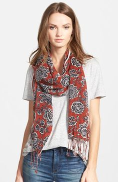 Madewell Floral Print Scarf available at #Nordstrom
