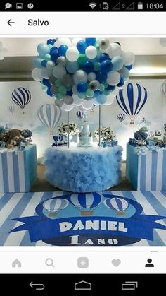 Balloon Decorations, Birthday Decorations, Baby Shower Decorations, Baby Boy Birthday, Boy Birthday Parties, Boy Baby Shower Themes, Baby Boy Shower, Its A Boy Balloons, Party Props