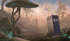 """""""Doctor in Morrowind"""" by kissyushka on deviantArt. The Elder Scrolls: Morrowind x Doctor Who crossover. Doctor Who Fan Art, Doctor In, Tenth Doctor, Diy Doctor, Doctor Who Wallpaper, Funny Illustration, Elder Scrolls, My Collection, Wallpaper Backgrounds"""