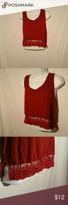 Forever 21 Crop Top Forever 21 Red Crop Top, size medium. Forever 21 Tops Crop Tops