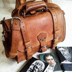 Deep thoughts with Briefcase: Youth is a gift of nature but age is a work of art. So true especially if it's an aging decades-old leather bag. Love this shot