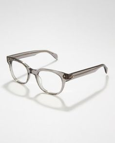 Afton Rounded Fashion Glasses, Gray by Oliver Peoples at Neiman Marcus.