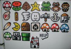 Mario Brothers 3 Perler bead crafts