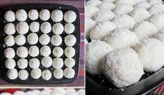 Nepečené kokosové kuličky téměř bez cukru Food, Balls, Christmas, Xmas, Essen, Navidad, Meals, Noel, Natal