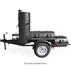 If your gatherings and backyard BBQ's tend to be Texas-sized, look no further than the trailer-mounted Pearsall Smoker. This pit is identical to our sta. Bbq Smoker Trailer, Bbq Pit Smoker, Barbecue Pit, Trailer Smokers, Custom Bbq Grills, Custom Bbq Pits, Smoking Cooking, Smoking Meat, Smoker Cooker