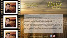 Página Inicial do site do Cantor Theo Rocha