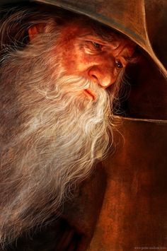 petite-madame: Mithrandir (Gandalf) Photoshop CS6. About 4 hours. (This is FANTASTIC!!!)