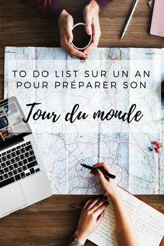 """Le 13 octobre 2017 commence mon grand voyage ! Je vous ai donc récapitulé mes préparatifs de """"tour du monde"""" sur 1 an sous forme de to do list !"""