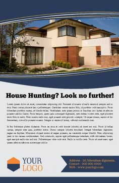 Borderless poster. Easy to customize. Promote your property listings, your agency, or yourself as a Realtor.  Try this Free Template now using the PageProdigy Cloud Designer: www.pageprodigy.com/design?template=194&size=3300x5100&theme=Real Estate&source=pinterest