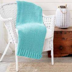 Bernat® Maker Home Dec™ Shaker Knit Rib Blanket