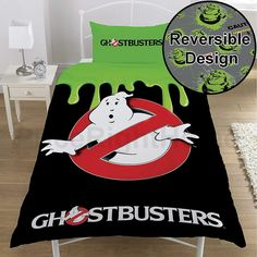 Looking for great Ghostbusters Single/US Twin Duvet Cover and Pillowcase Set by cheap price? Click and order it with Worldwide delivery! Kids Bedding Sets, Luxury Bedding Sets, Matching Bedding And Curtains, Bed Linen Online, Bedding Websites, Luxury Bedding Collections, Cozy Bed, Luxurious Bedrooms, Linen Bedding