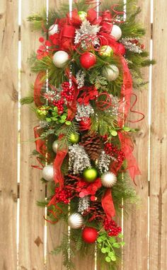 christmas swag......great idea for my fence :)
