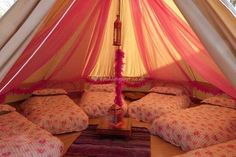 Party Bell Tent from Cariad Canvas | pretty decoration - how fun for a sleepover!?: