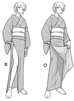 Manga Drawing Tutorials, Drawing Techniques, Drawing Sketches, Drawings, Clothes Draw, Drawing Anime Clothes, Drawing Base, Figure Drawing, Kimono Animé