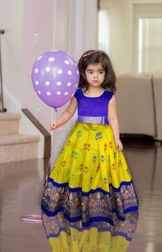 Ikkat lehengas for small kids upto 3 years For more details contact me in WhatsApp at Baby Boy Dress, Baby Girl Party Dresses, Little Girl Dresses, Girls Dresses, Baby Lehenga, Kids Lehenga, Kids Dress Wear, Kids Gown, Baby Frocks Designs