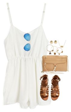 """"""""""" by emmig02 ❤ liked on Polyvore featuring Rebecca Minkoff, Aéropostale, Ray-Ban, Alex and Ani, H&M and Kendra Scott"""