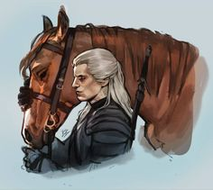 The Witcher Fan Art Gallery on The Designest The Witcher Series, The Witcher Books, The Witcher Geralt, Witcher Art, Anime Art Fantasy, Fantasy Books, Fantasy Characters, Witcher Wallpaper, Silvester Stallone
