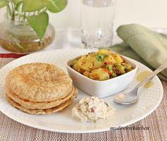 Poori Bhaji (Fried Indian Flatbread With A Spicy Potato Curry)
