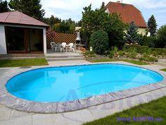Овальный бассейн Albion Econ pools серии Basik