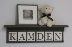 Brown Baby Boy Nursery Decor Wood Shelf Sign by NelsonsGifts, $45.00
